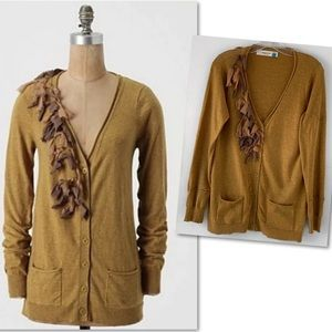 ANTHROPOLOGIE SPARROW TIED CASHEMERE CARDIGAN